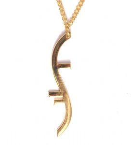 HEROES GOLD TWISTED necklace Helix  Pendant Prop